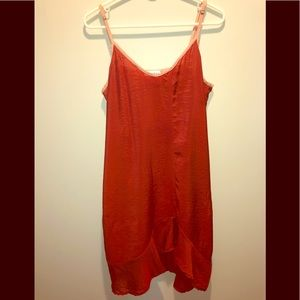 ANTHROPOLOGIE  ASYMMETRICAL  SLIP DRESS